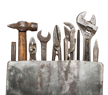 Rusty old tools. photo