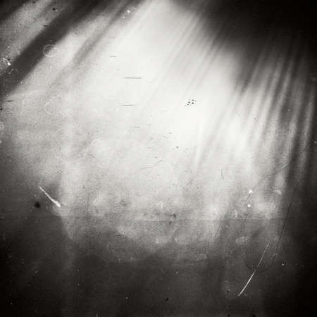Abstract sunlight on film. Lots of grain, scratches and dust. Stock Photo