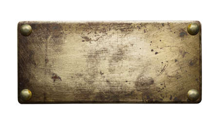 Brass plate texture, old metal  photo