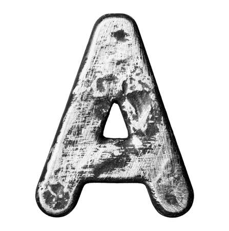 Metal alloy alphabet letter  photo