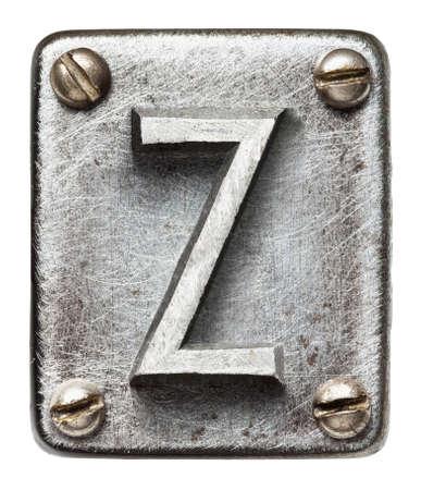 Old metal alphabet letter Z photo