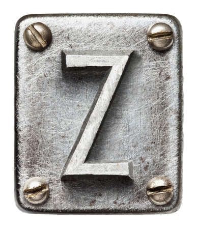 Old metal alphabet letter Z