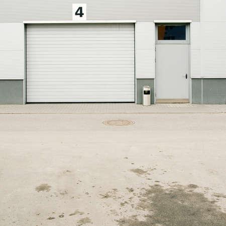Warehouse doors. photo
