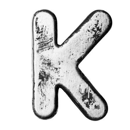 Metal alloy alphabet letter  photo