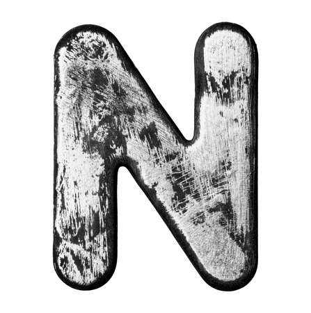 Metal alloy alphabet letter  Фото со стока