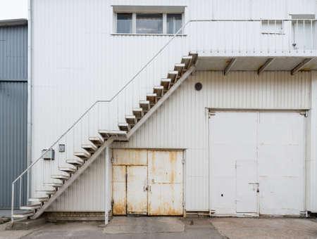 Urban background. Warehouse doors. photo