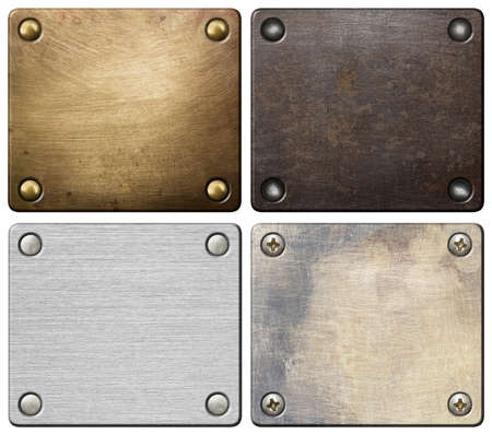 steel head: Metal plates with screws and rivets.