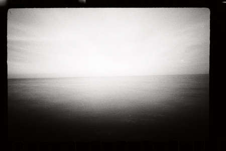 Abstract seascape. Original film shot. photo