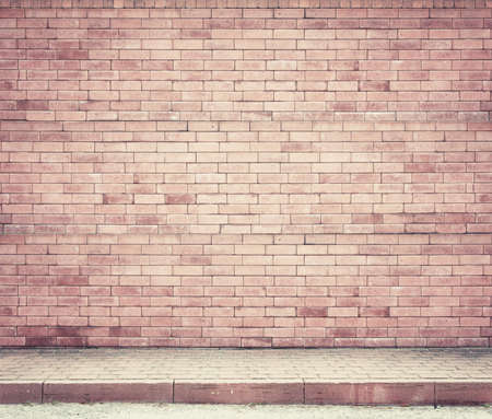 Brick wall background, texture photo