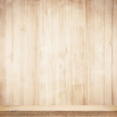 wood background: Wooden shelf Stock Photo