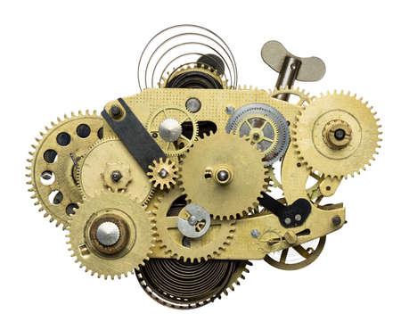 clockwork: Stylized metal collage of clockwork.