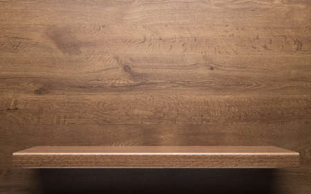 ligneous: Wooden shelf Stock Photo