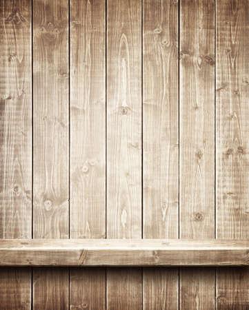 Étagère en bois Banque d'images