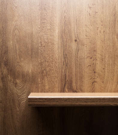 Wooden shelf photo