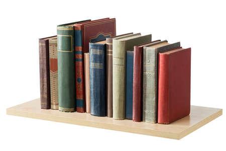 Books on the shelf, isolated. Reklamní fotografie