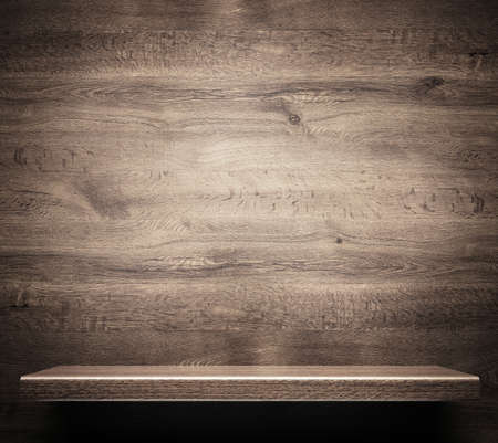 Wooden shelf 스톡 콘텐츠