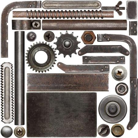 Dark and rusty metal design elements