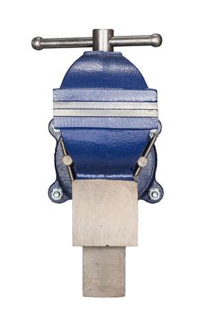 vise: Tabla tornillo de banco aislado en blanco.