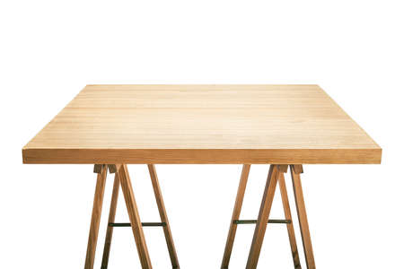 Workshop table top, isolated photo