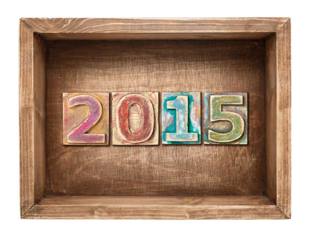 Wooden 2015 new year concept. photo
