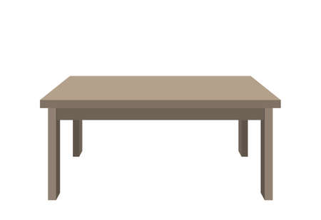 Vector table on white background Vector
