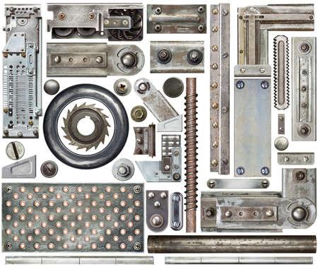 Elementos de diseño de metal de uso industrial Foto de archivo - 34178834