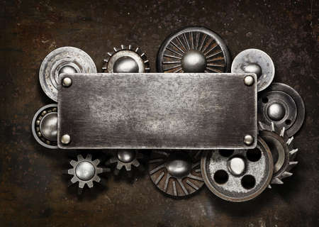 steel head: Industrial dark metal background