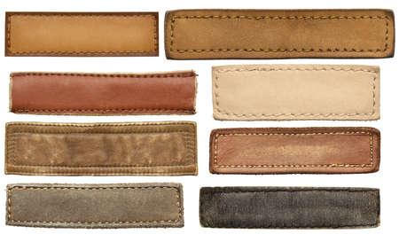 in jeans: Etiquetas de jeans de cuero, etiquetas de cuero.