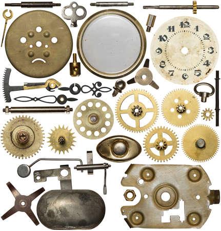 Uhrwerk Ersatzteile. Metallgetriebe, die Zahnräder, zu wählen. Lizenzfreie Bilder