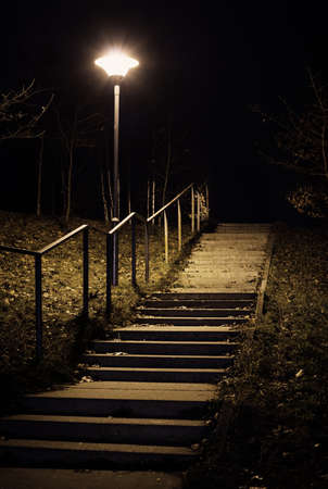 streetlight: Night in the park Stock Photo
