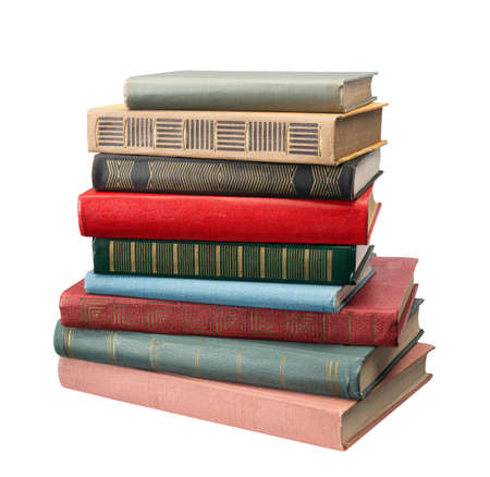 Books on white background Banque d'images