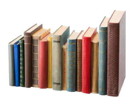 Books on white background Stock Photo