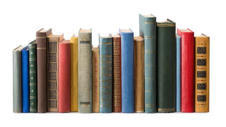 Books on white background Stok Fotoğraf
