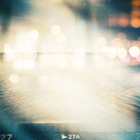 Summer background in lomography style. Image contains film grain. 版權商用圖片