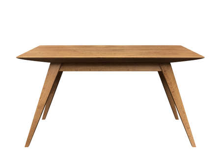 tabulka: Dřevěný stůl na izolované bílém pozadí.