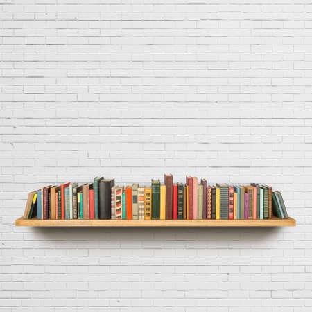 copertine libri: Vecchi libri sullo scaffale Archivio Fotografico