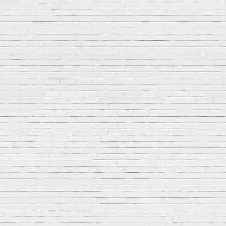 Fondo blanco pared de ladrillo inconsútil, textura Foto de archivo - 38641507