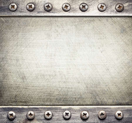 industrial background: Industrial metal background with screws.