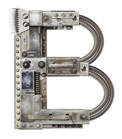 lettres alphabet: Industriel m�tal alphabet lettre B