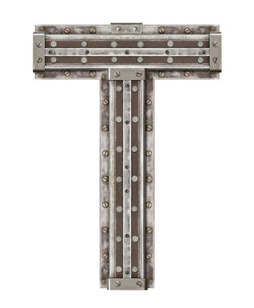 metales: Industrial letra del alfabeto de metal T