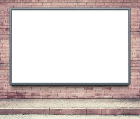 bill board: Blank advertising billboard on a street wall. Stock Photo