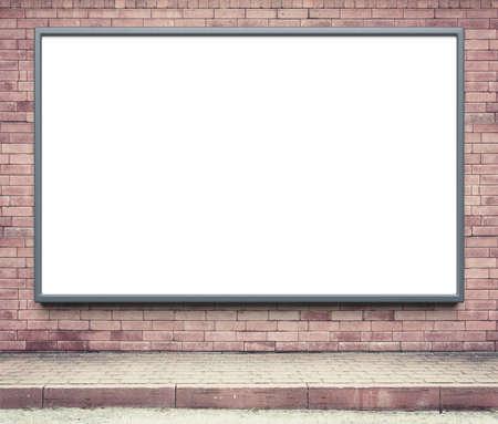 Blank panneaux publicitaires sur un mur de la rue. Banque d'images