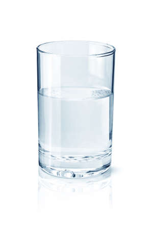 Glass of water isolated on white photo