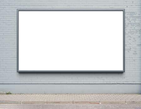 Cartelera publicitaria en blanco en una pared de la calle. Foto de archivo - 40592752