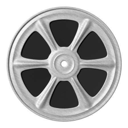 motion picture: Motion picture film reel. 3d render.