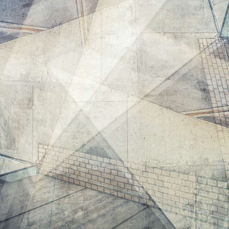 architecture: Abstract multi exposure background. Architectural details. Stock Photo