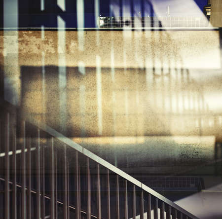 multiple exposure: Abstract multiple exposure urban background. Stock Photo