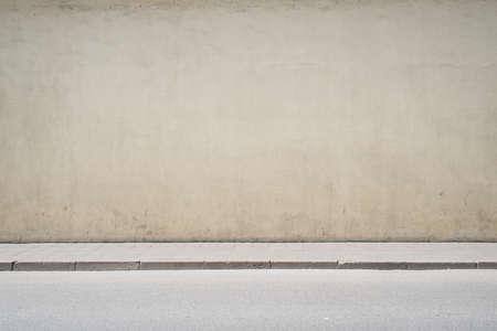 Urban background. Empty street wall and pavement