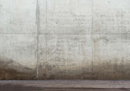old wall: Urban background. Empty concrete wall and floor.