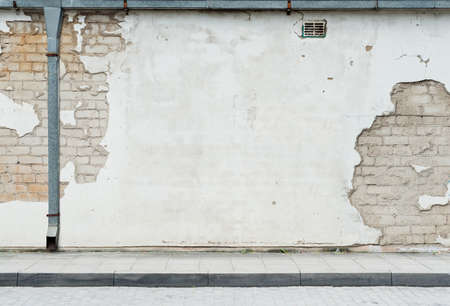 Aged street wall background